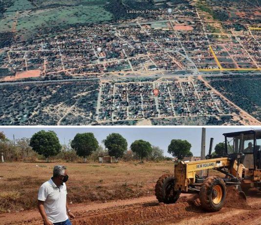 Iniciada mais uma etapa de pavimentação asfáltica em dois bairros de Lassance